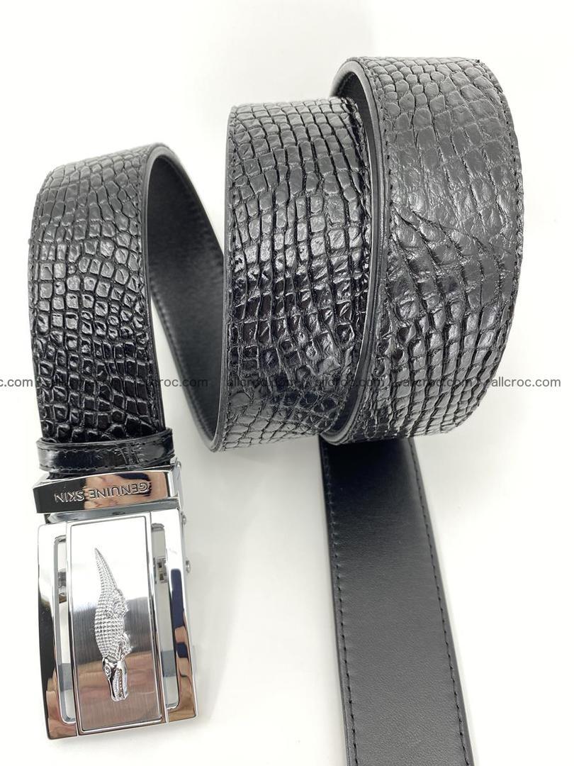 Crocodile leather belt 736 Foto 6