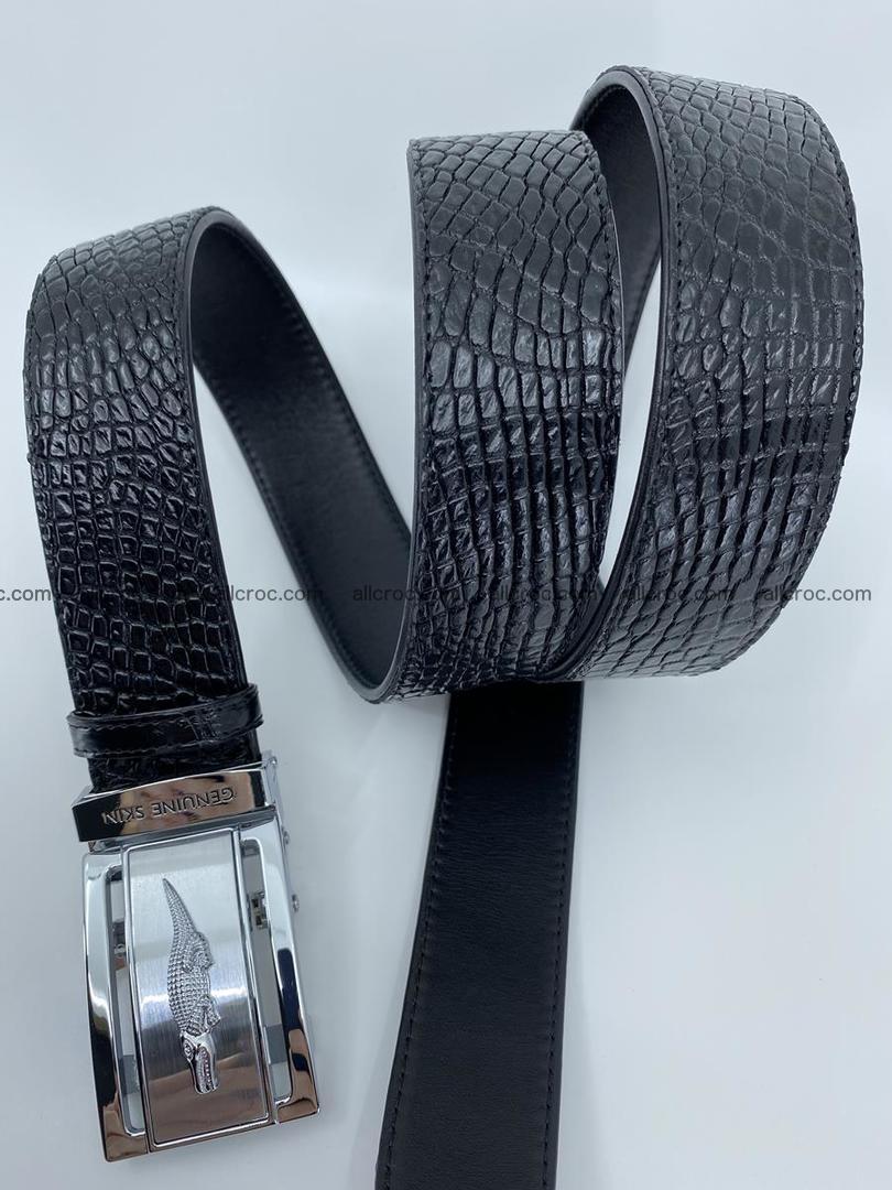 Crocodile leather belt 736 Foto 7