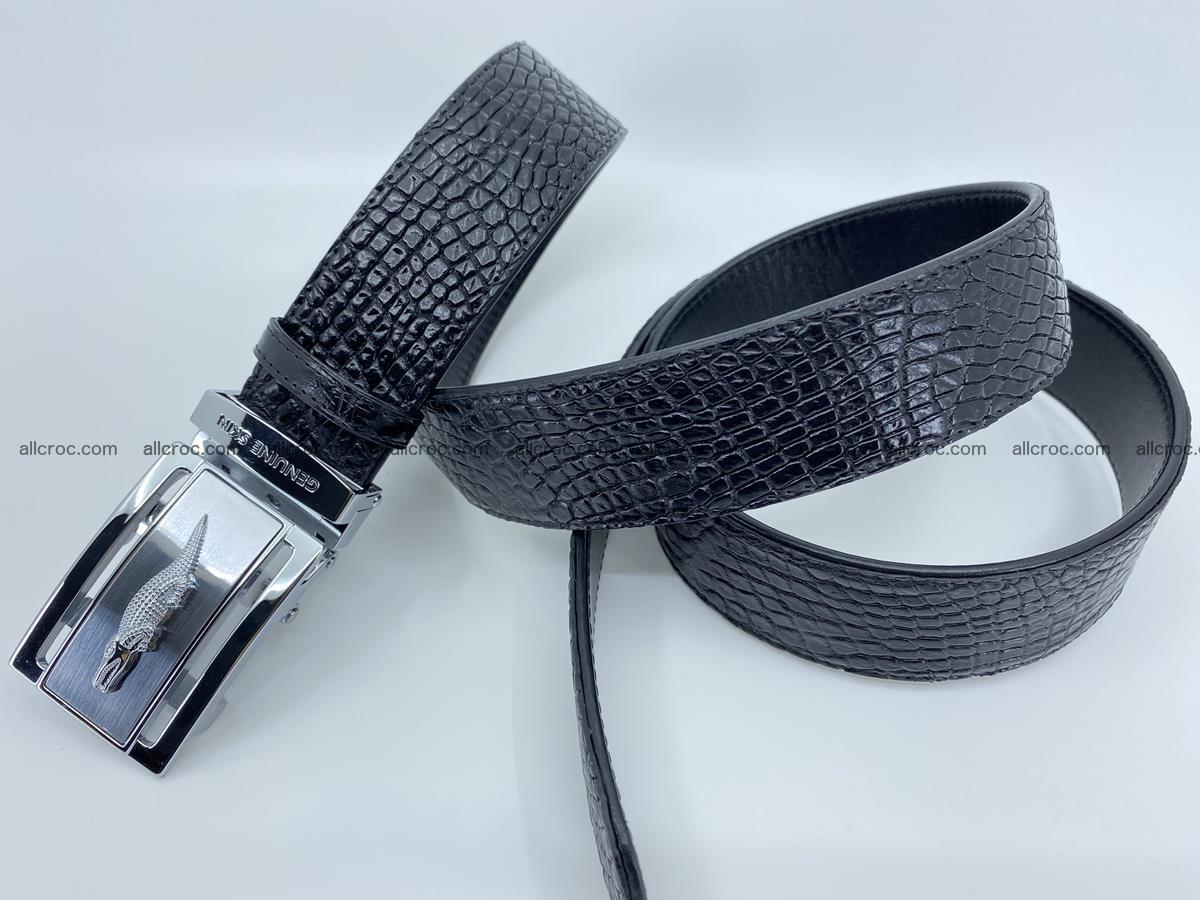 Crocodile leather belt 736 Foto 8