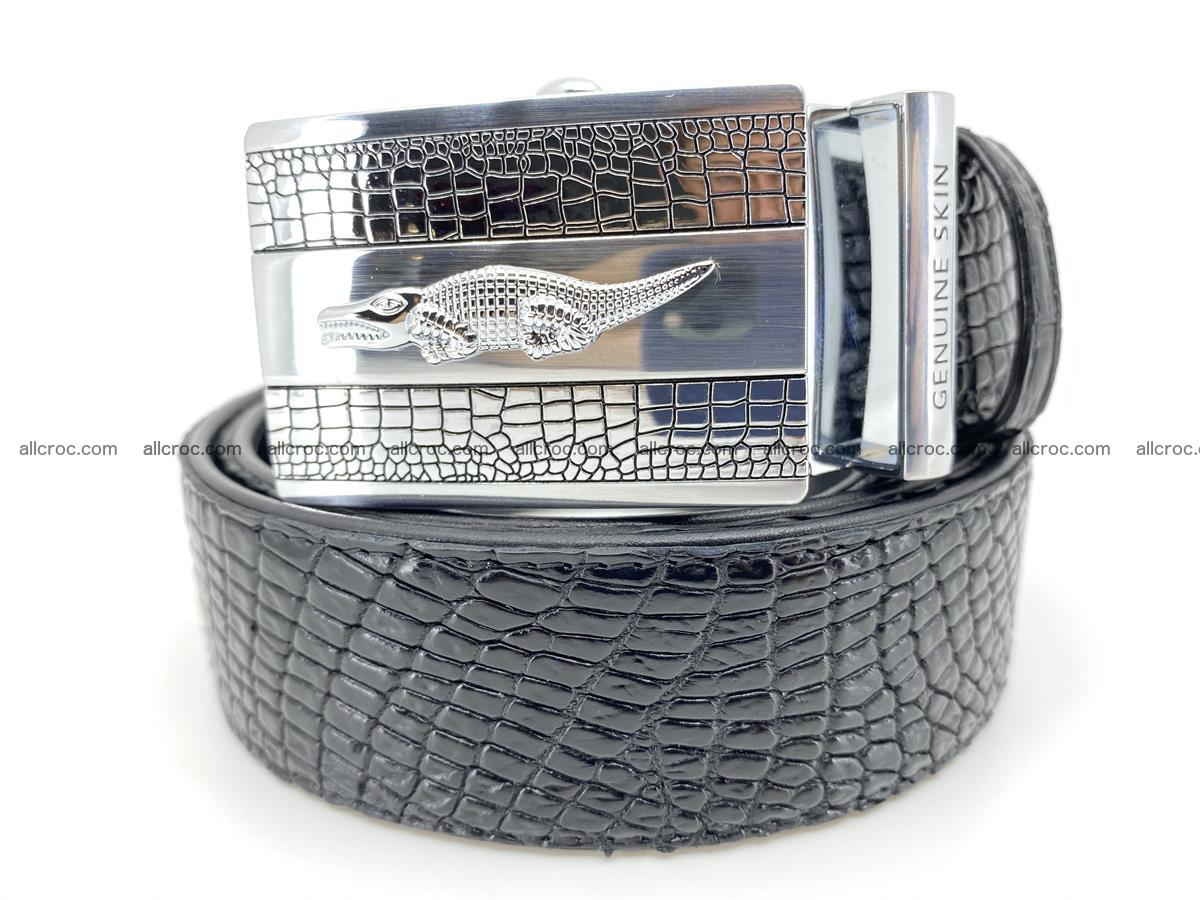 Crocodile leather belt 738 Foto 0