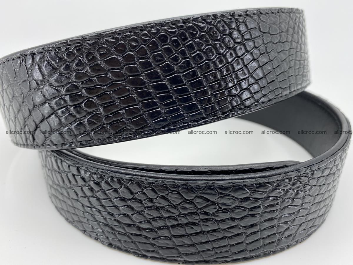 Crocodile leather belt 738 Foto 4