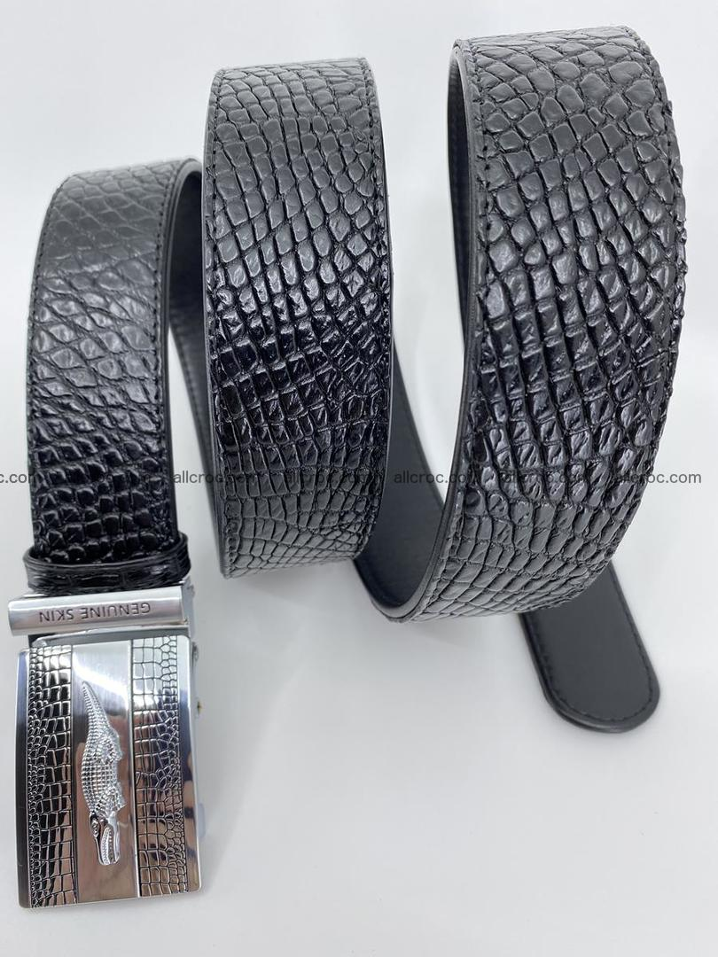 Crocodile leather belt 738 Foto 7