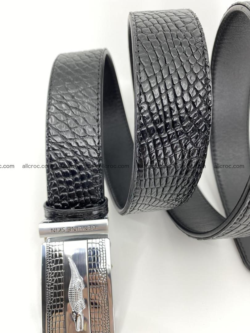 Crocodile leather belt 738 Foto 8