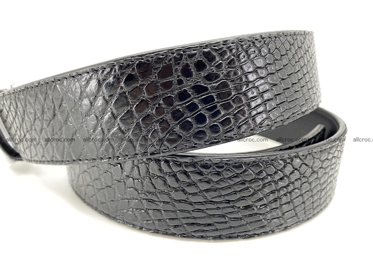 Crocodile leather belt 740 Foto 5