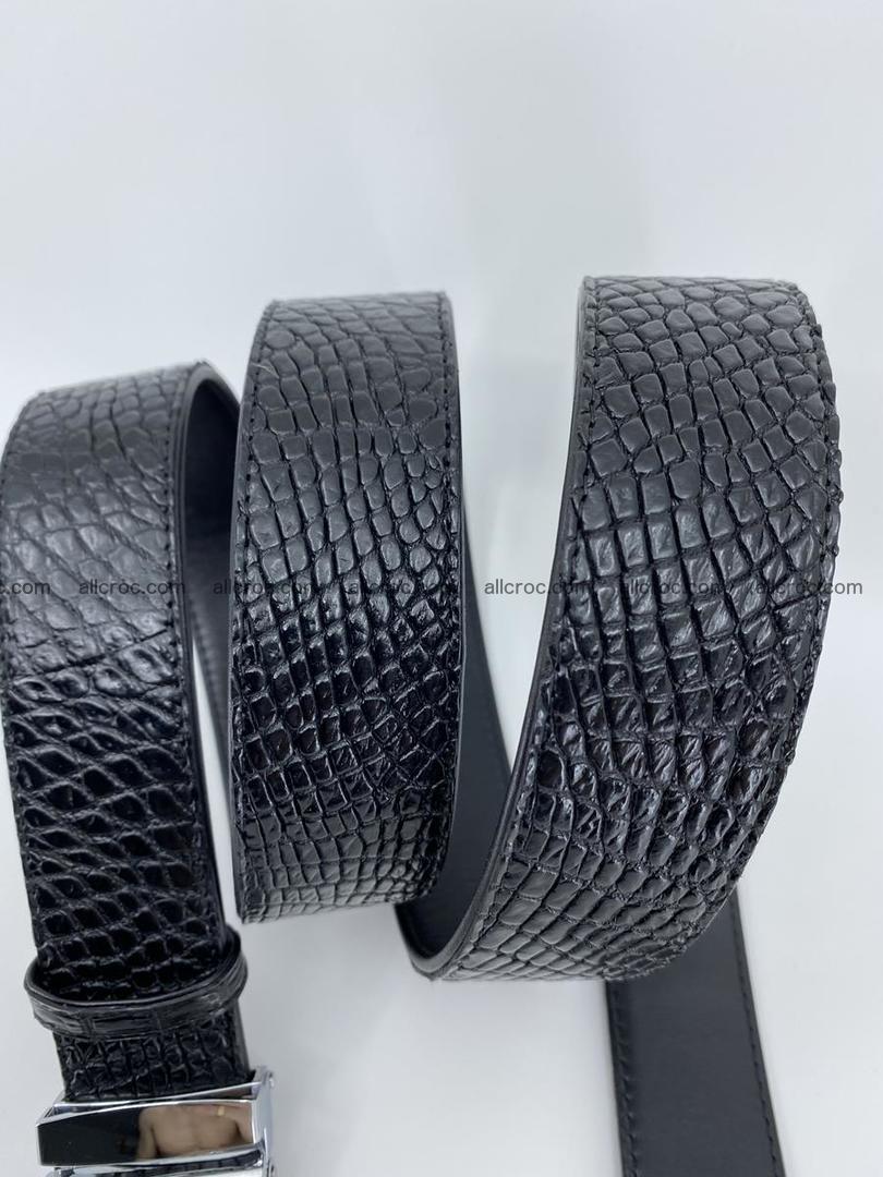 Crocodile leather belt 740 Foto 8