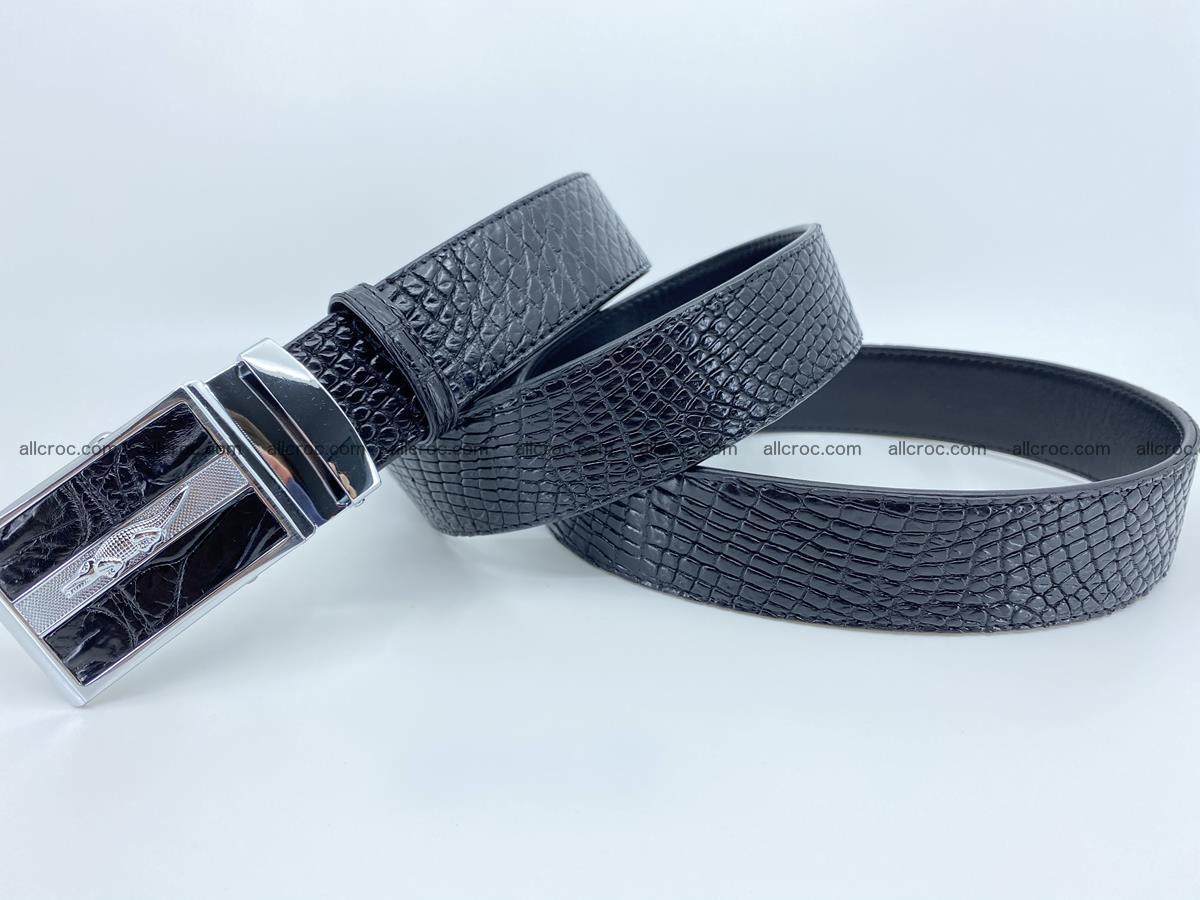 Crocodile leather belt 740 Foto 9