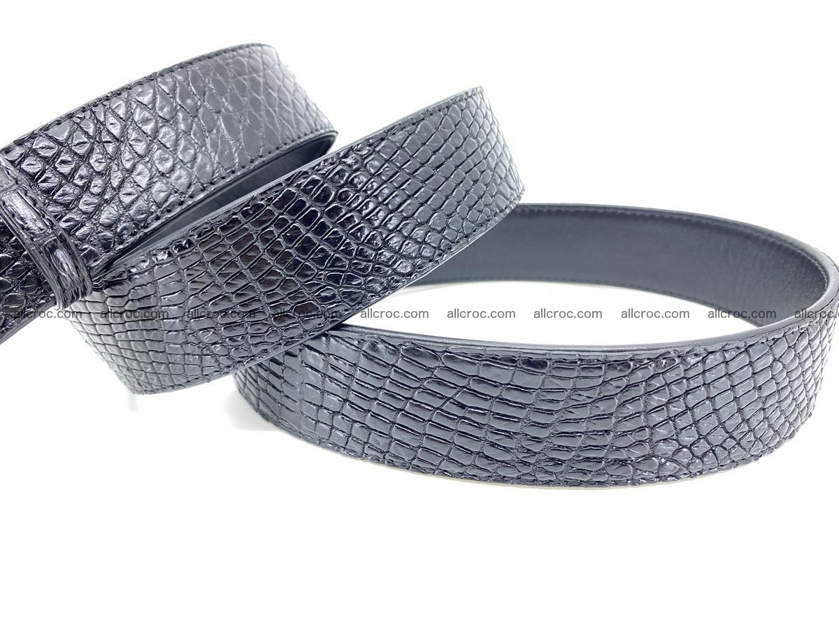 Crocodile leather belt 740 Foto 6