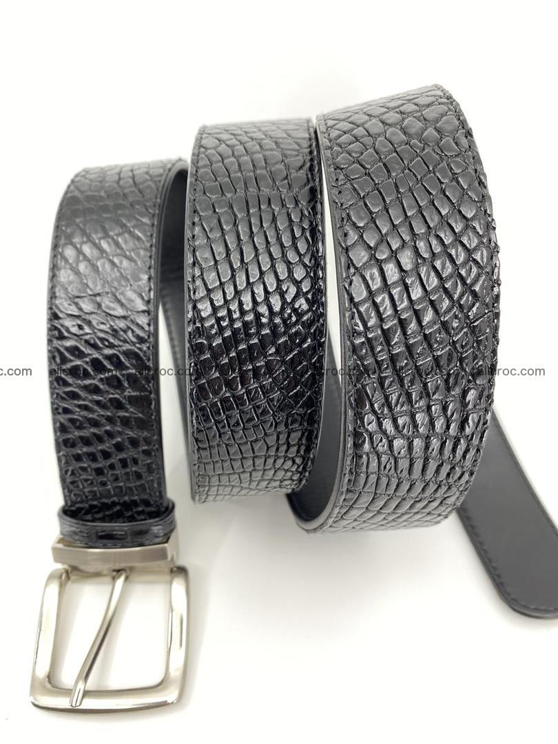 Crocodile leather belt 742 Foto 8