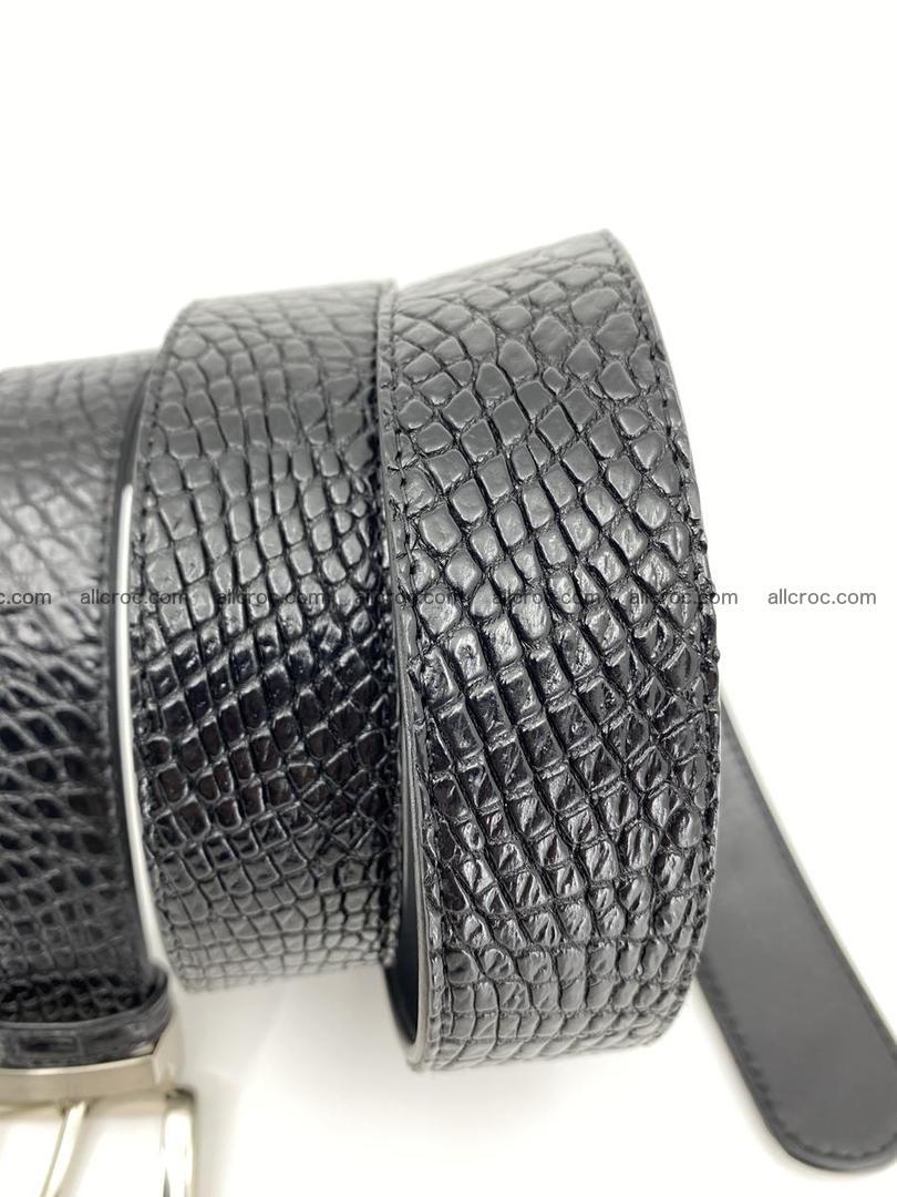 Crocodile leather belt 742 Foto 9