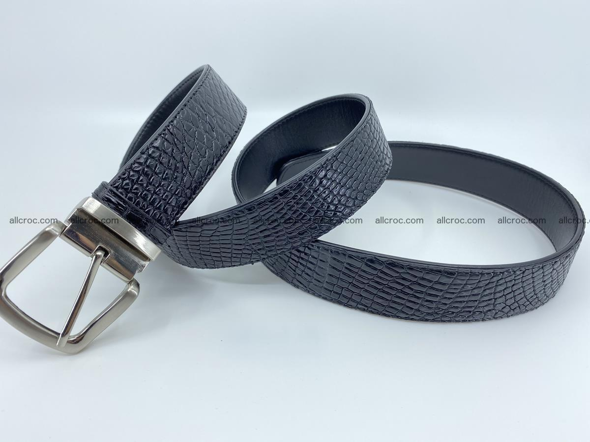 Crocodile leather belt 742 Foto 10