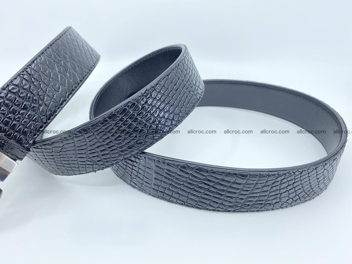 Crocodile leather belt 742 Foto 11