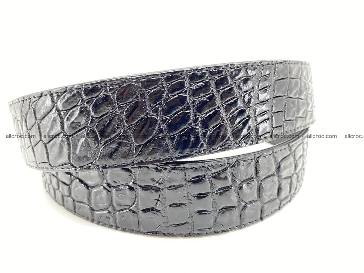 Crocodile leather belt 724 Foto 3