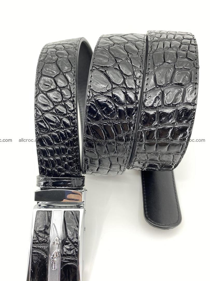 Crocodile leather belt 724 Foto 4