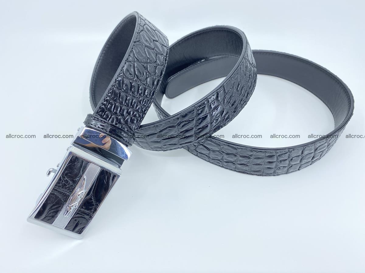 Crocodile leather belt 724 Foto 5