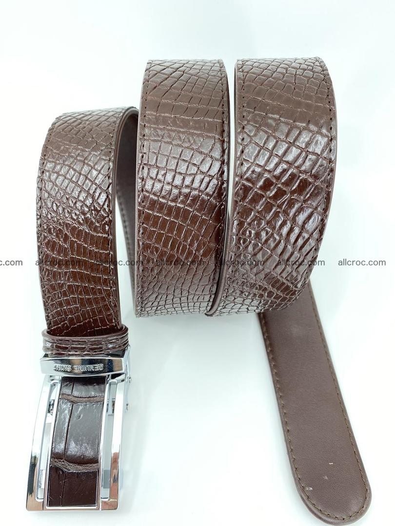 Crocodile leather belt 733 Foto 4