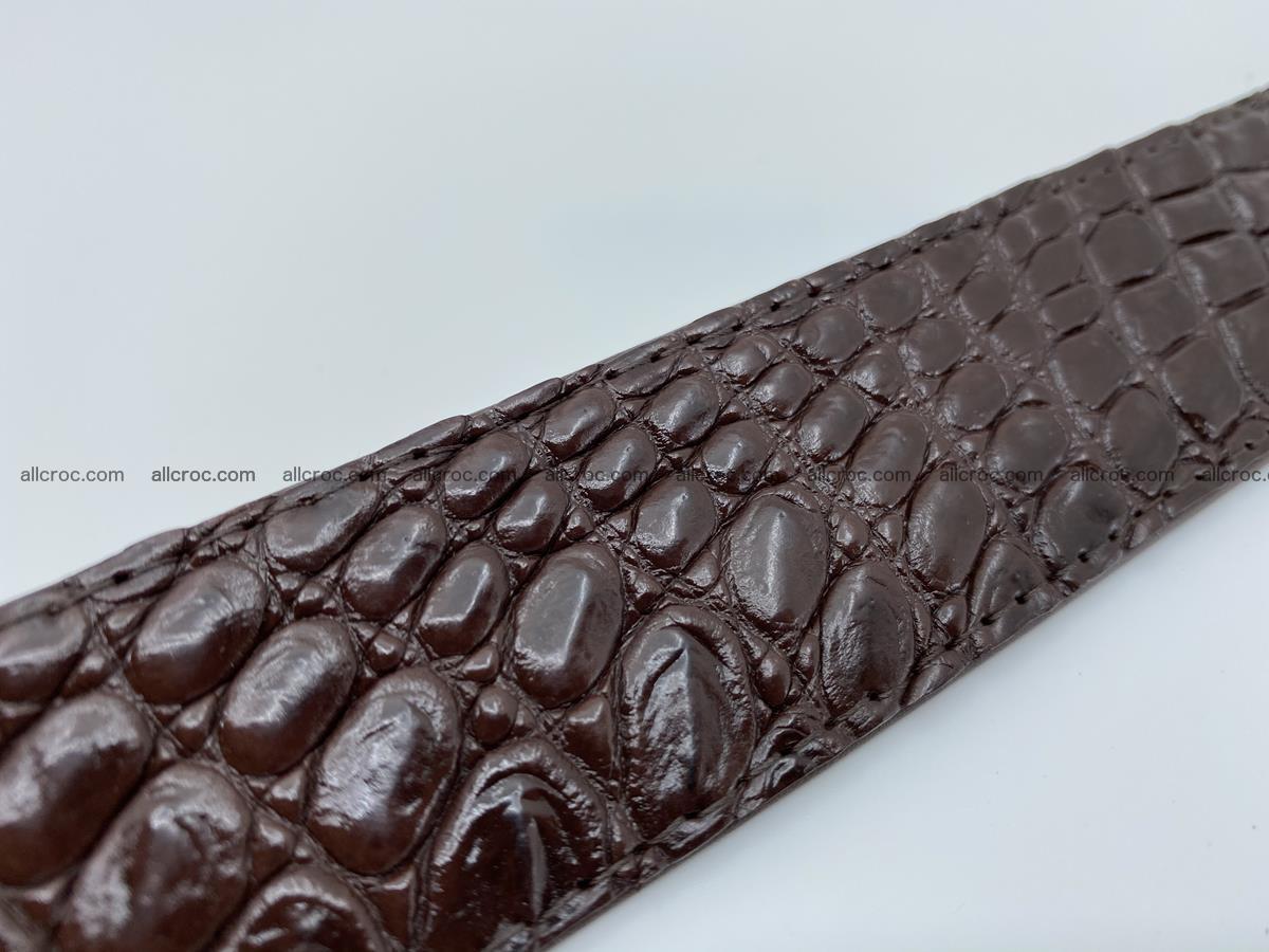 Crocodile leather belt 725 Foto 8