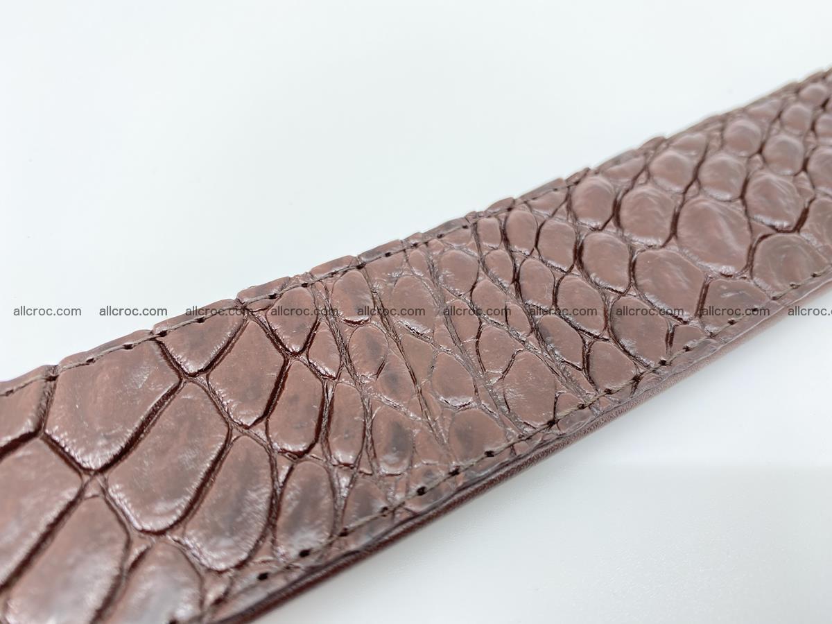 Crocodile leather belt 727 Foto 7