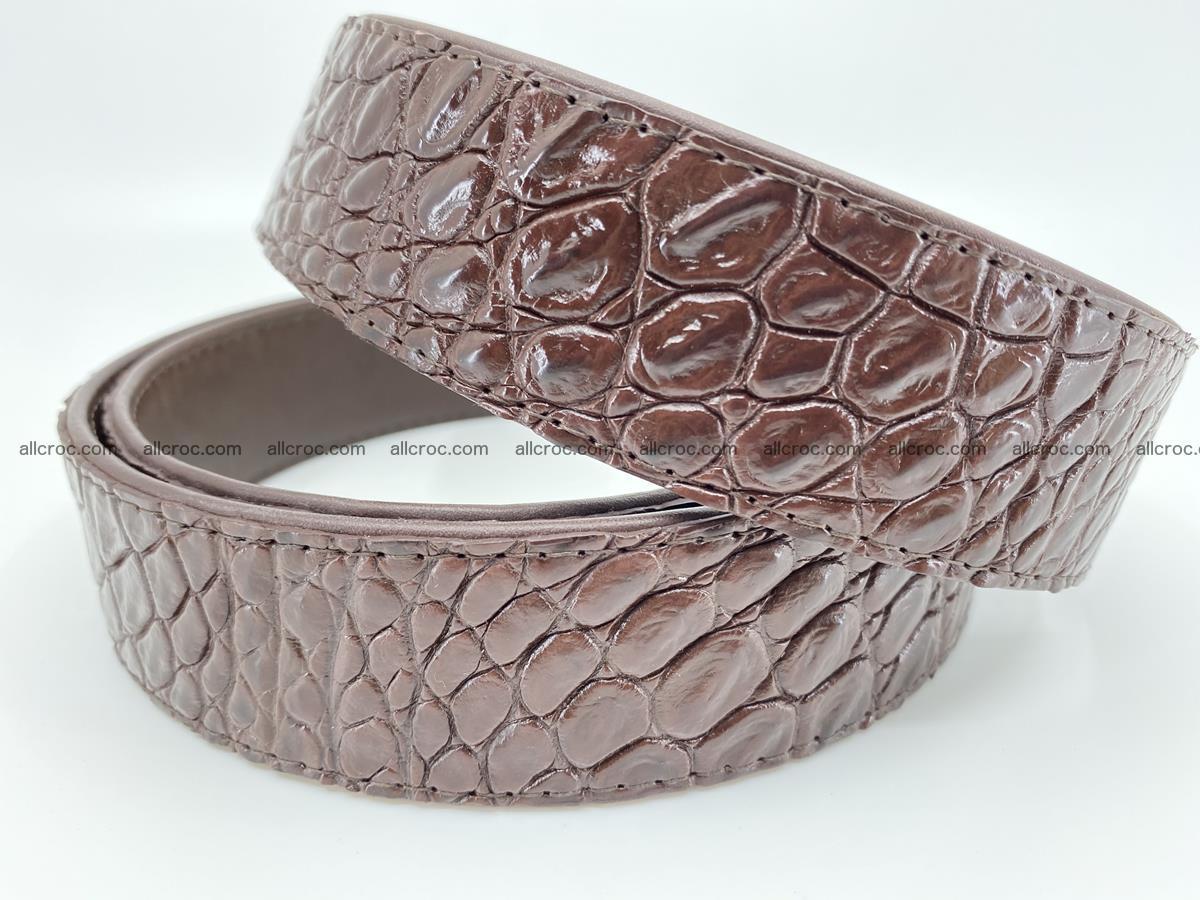 Crocodile leather belt 725 Foto 3