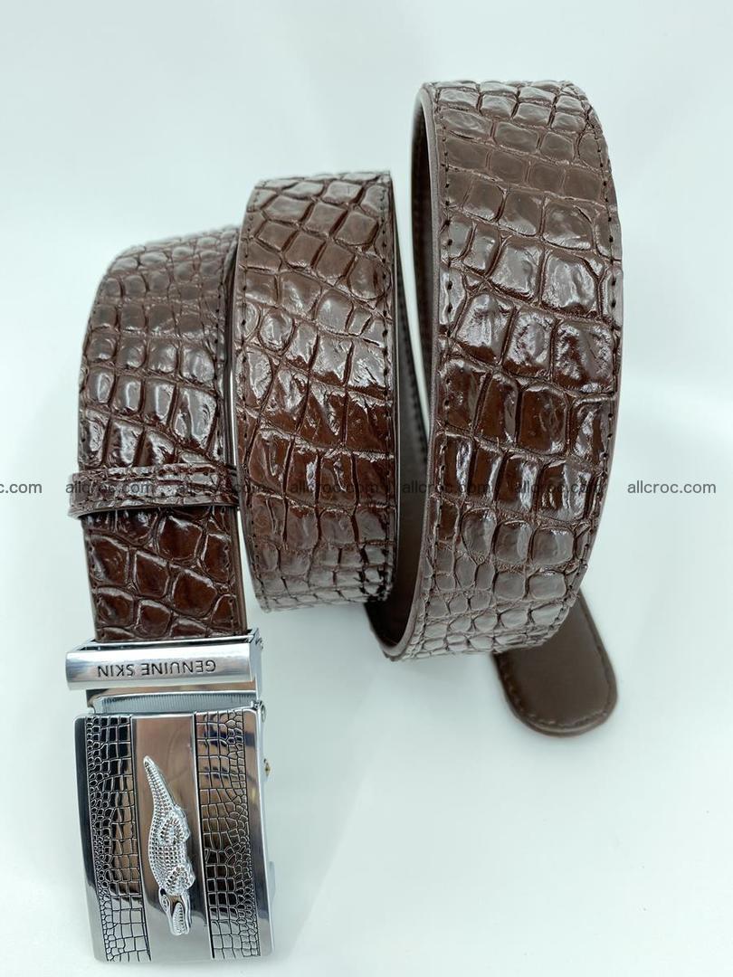 Crocodile leather belt 725 Foto 4