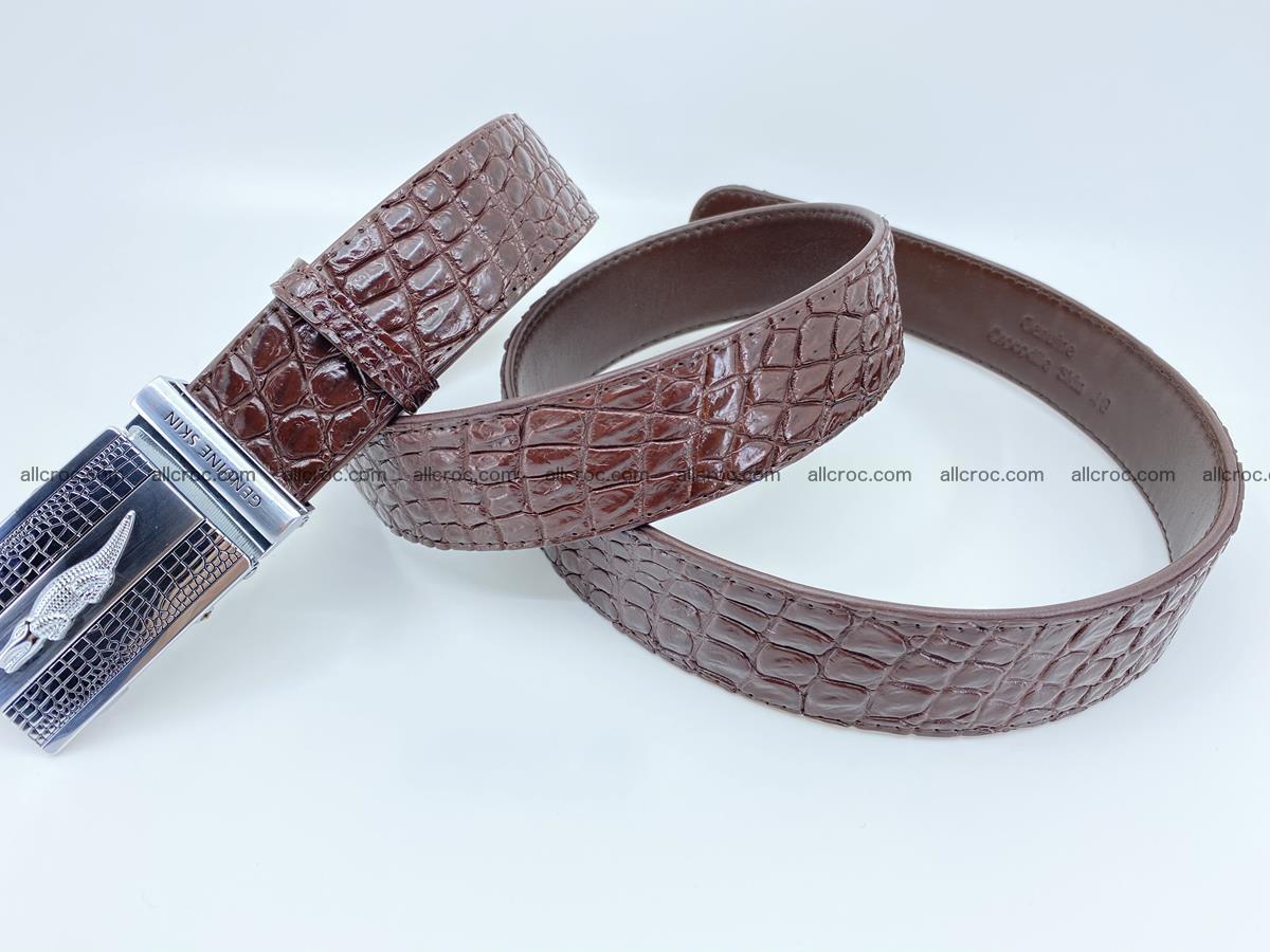 Crocodile leather belt 725 Foto 5