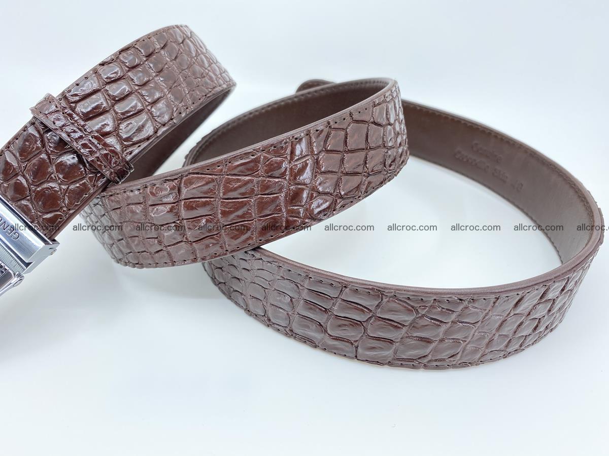 Crocodile leather belt 725 Foto 6