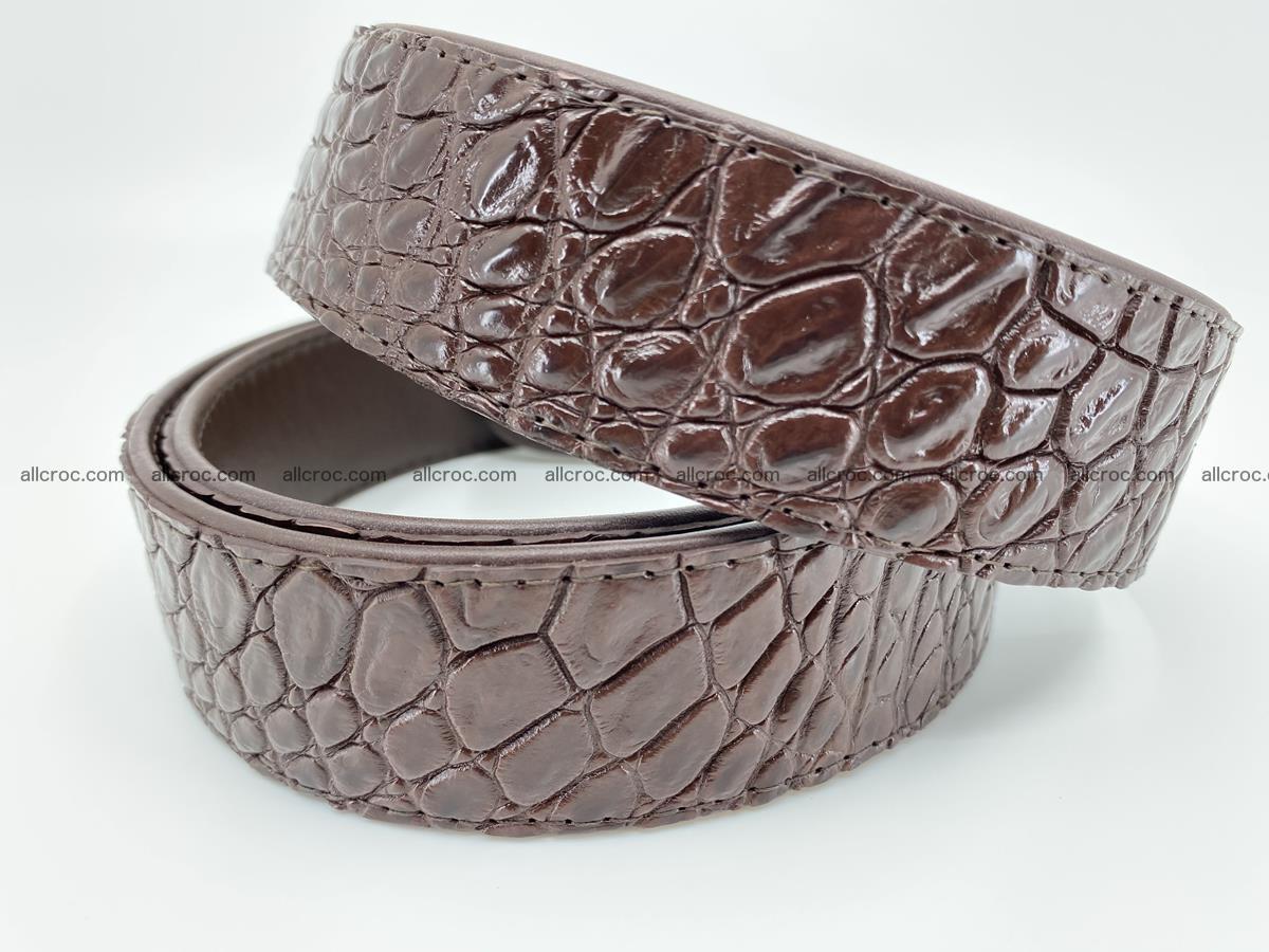 Crocodile leather belt 727 Foto 3