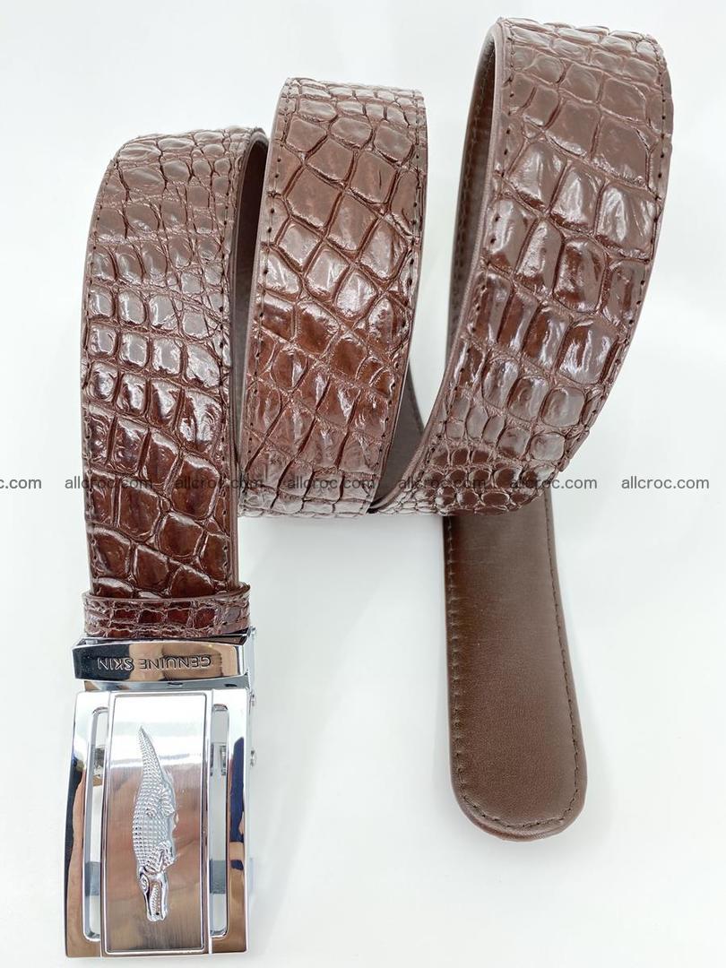 Crocodile leather belt 727 Foto 4