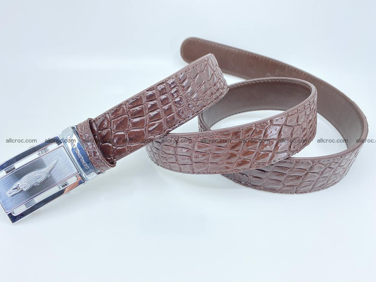 Crocodile leather belt 727 Foto 5