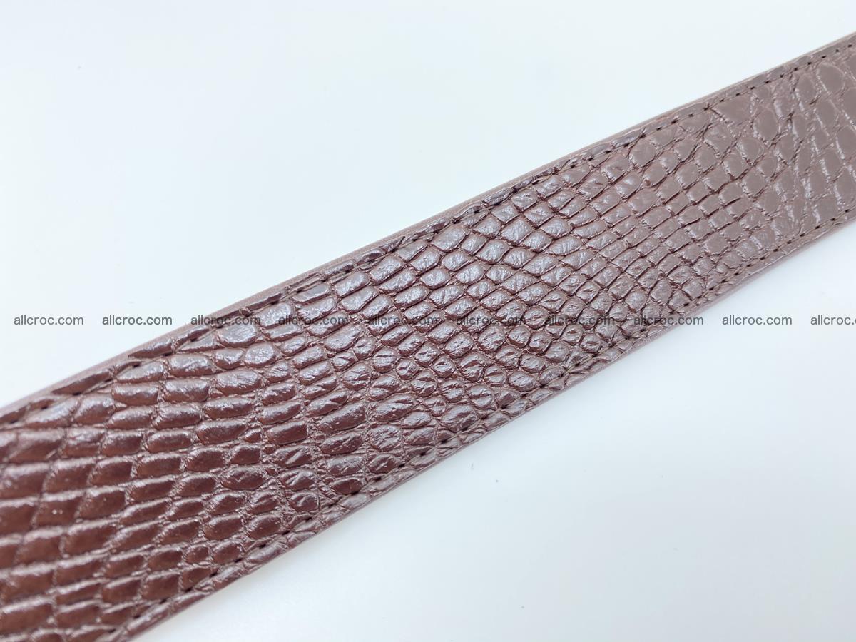 Crocodile leather belt 739 Foto 9