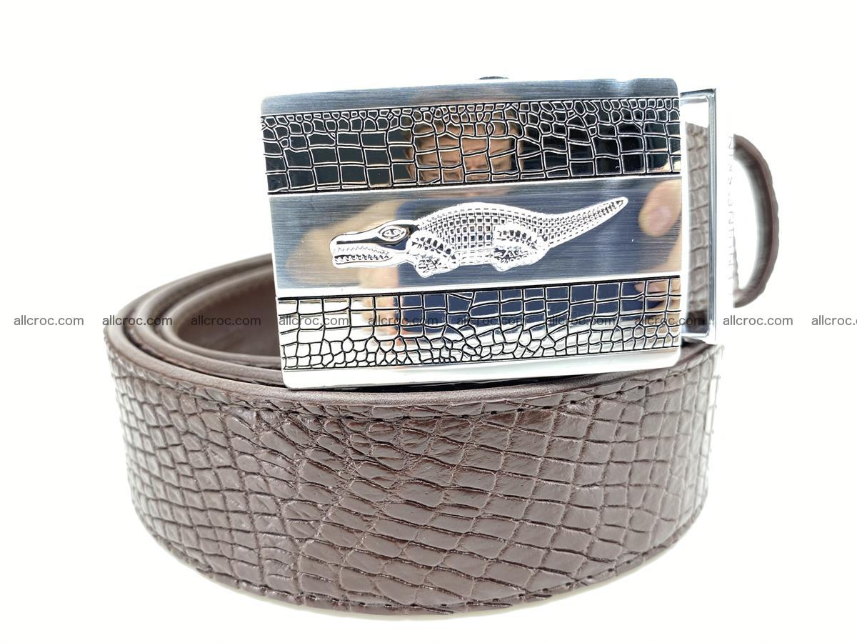 Crocodile leather belt 737 Foto 0
