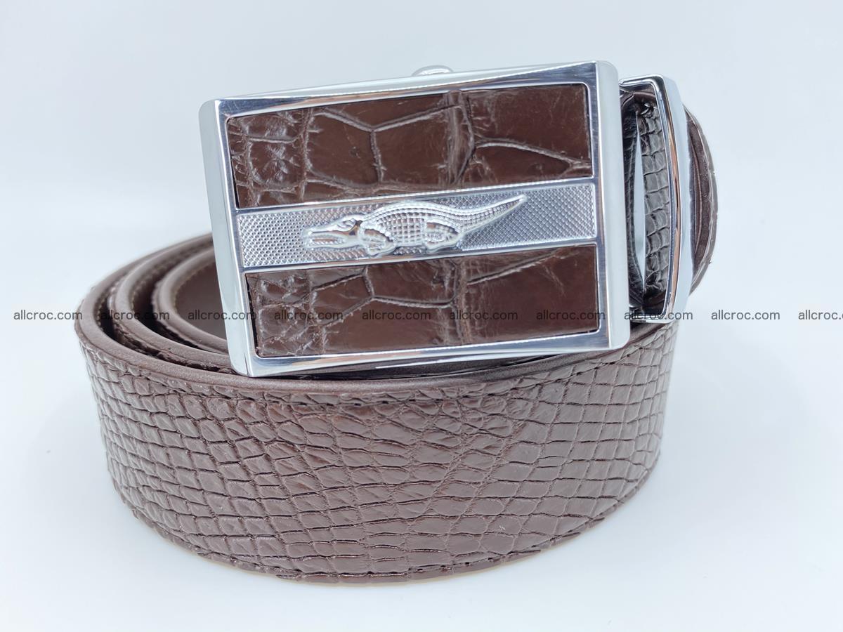 Crocodile leather belt 739 Foto 0