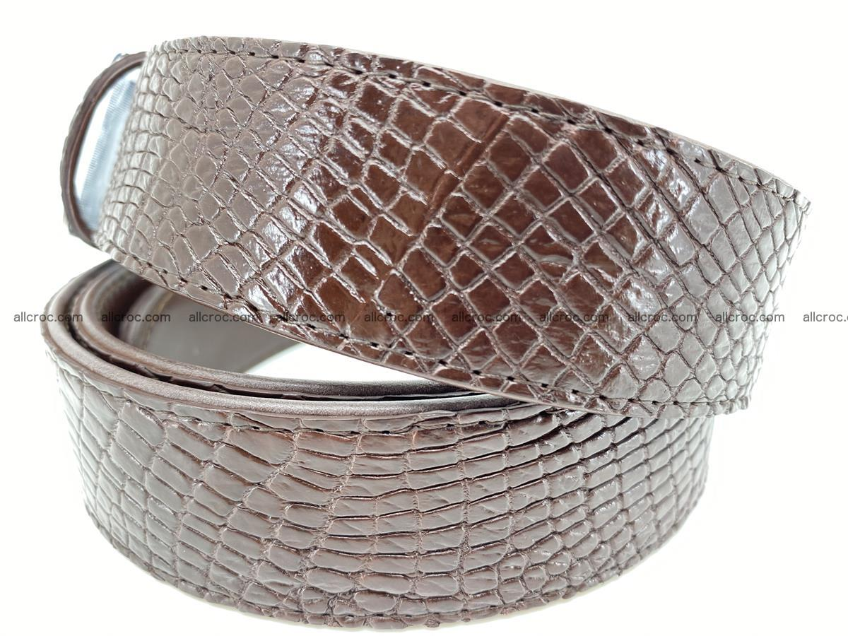 Crocodile leather belt 739 Foto 2