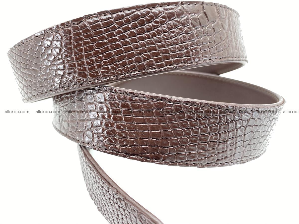 Crocodile leather belt 739 Foto 4