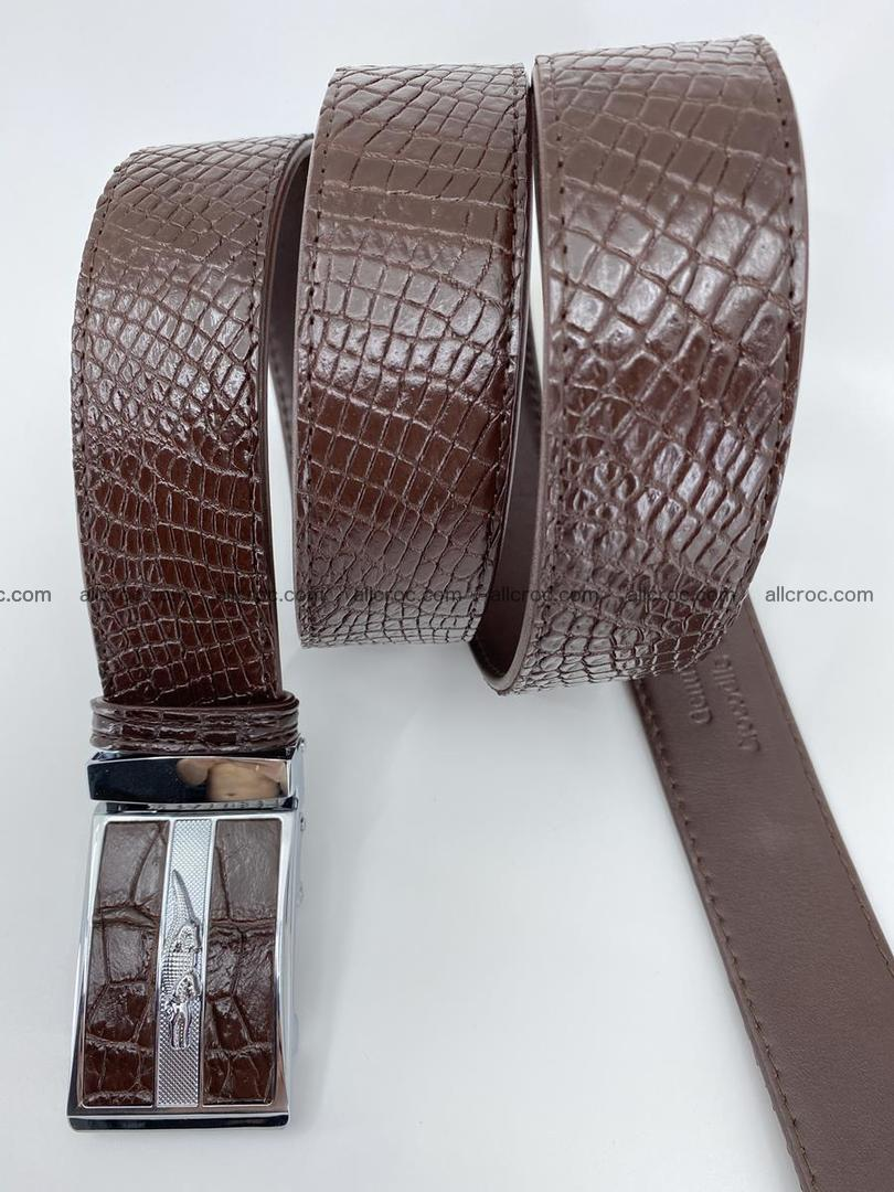Crocodile leather belt 739 Foto 5
