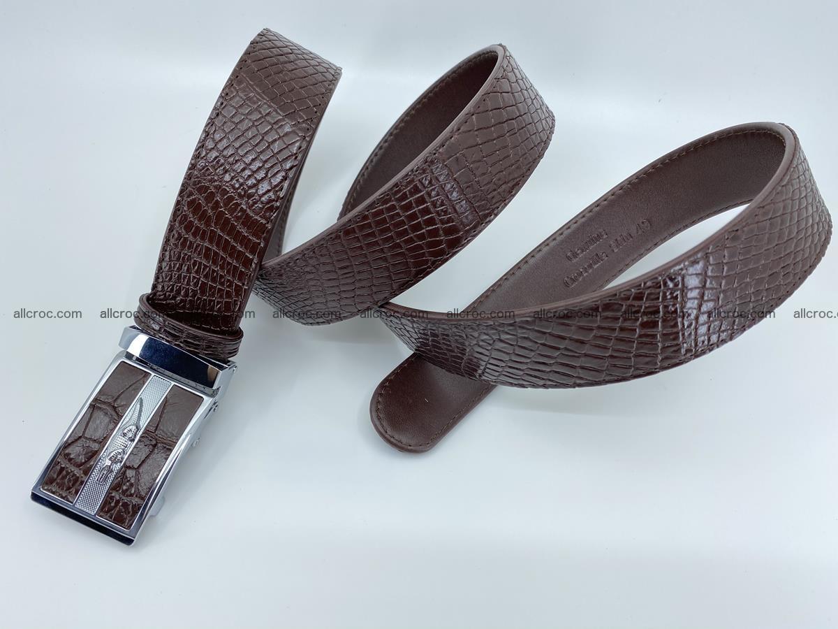 Crocodile leather belt 739 Foto 6