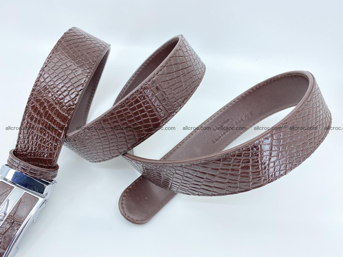 Crocodile leather belt 739 Foto 7