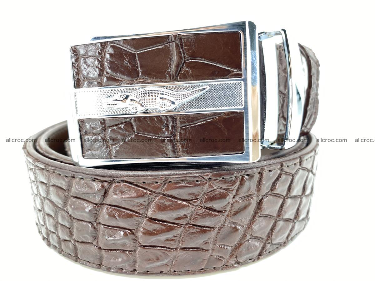Crocodile leather belt 723 Foto 0