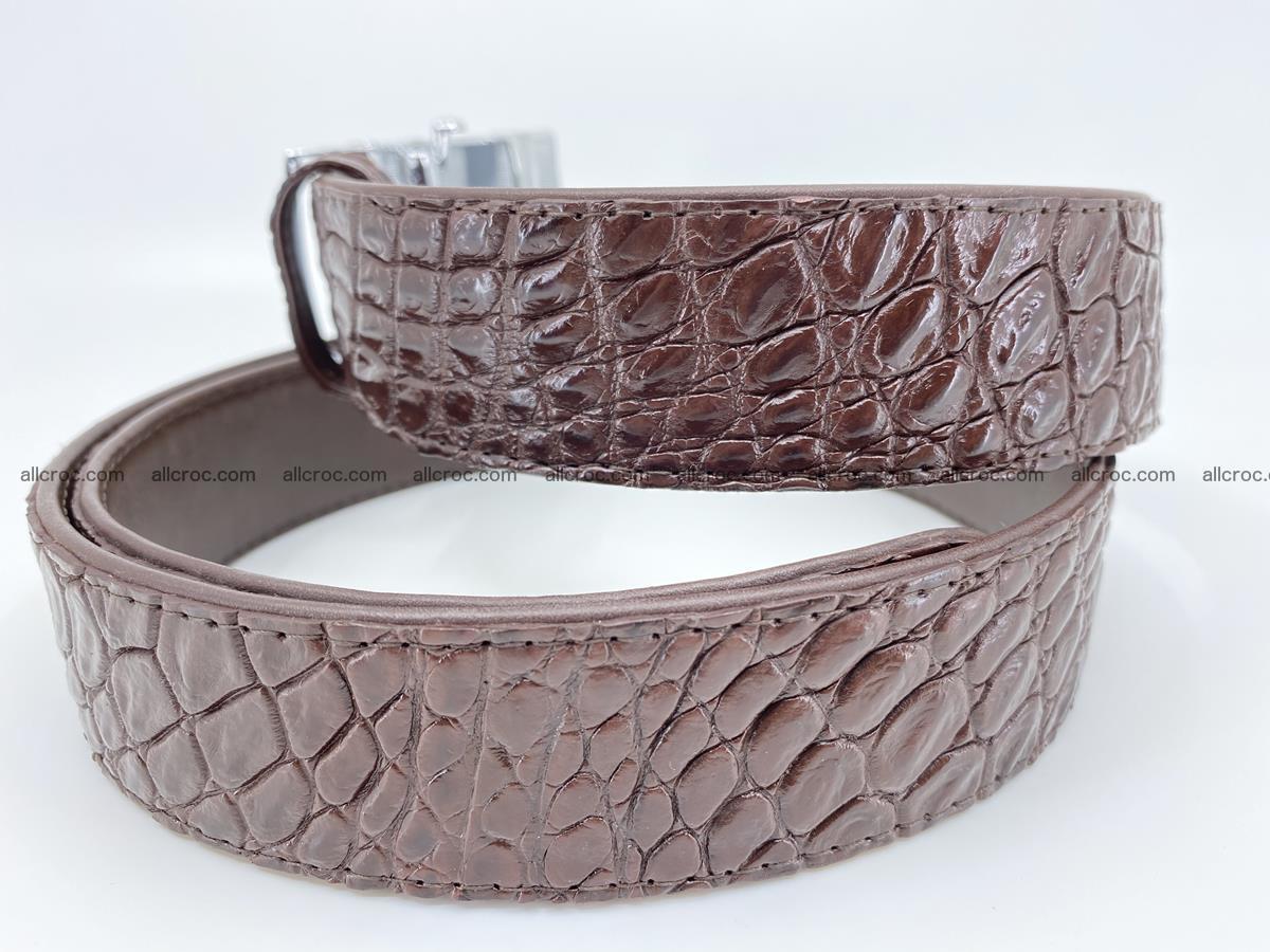 Crocodile leather belt 723 Foto 3