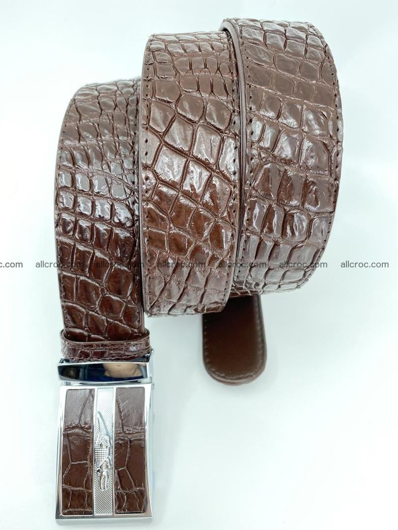 Crocodile leather belt 723 Foto 4