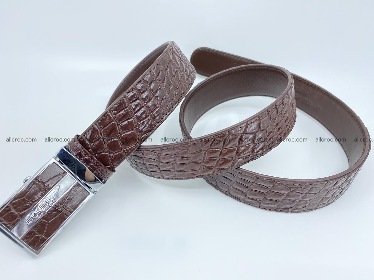 Crocodile leather belt 723 Foto 5
