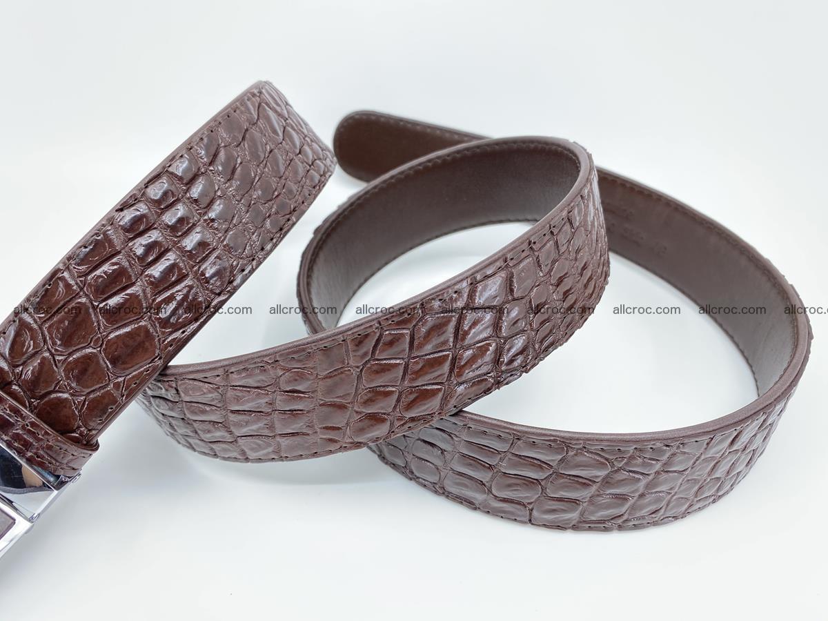Crocodile leather belt 723 Foto 6