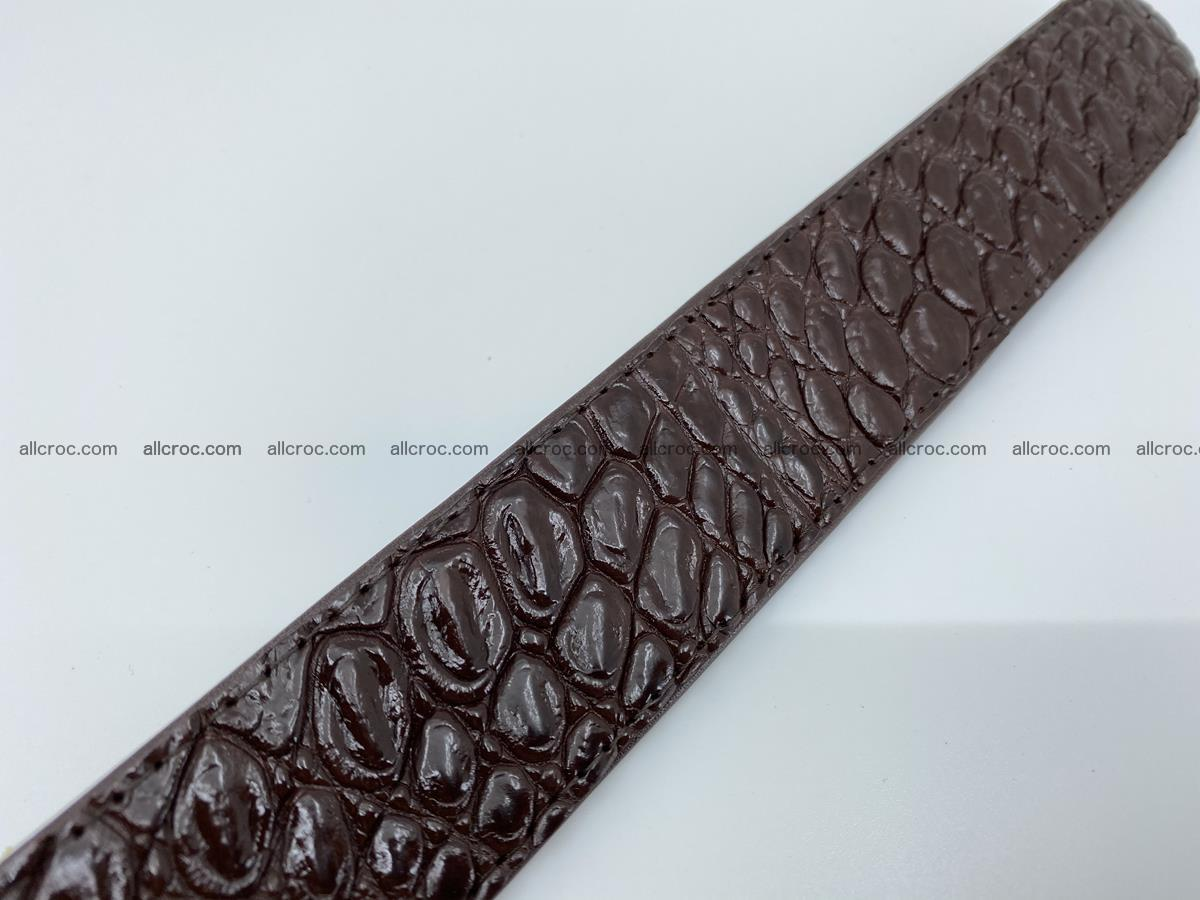 Crocodile leather belt 723 Foto 7