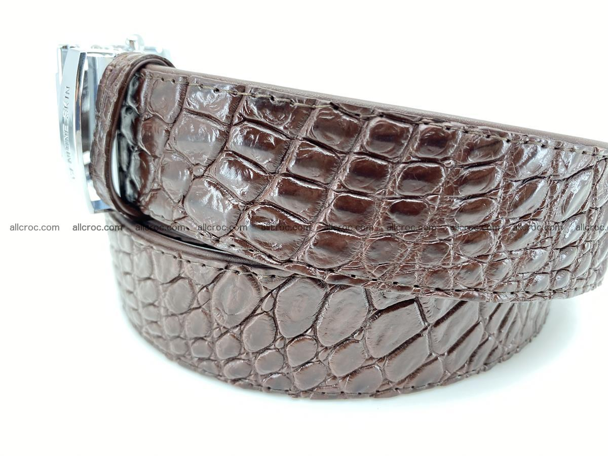 Crocodile leather belt 729 Foto 2