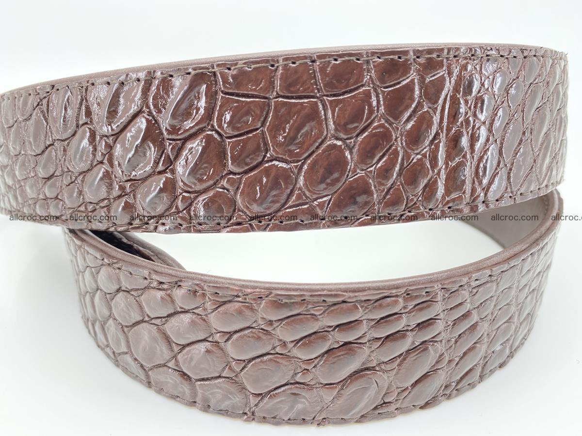 Crocodile leather belt 729 Foto 3