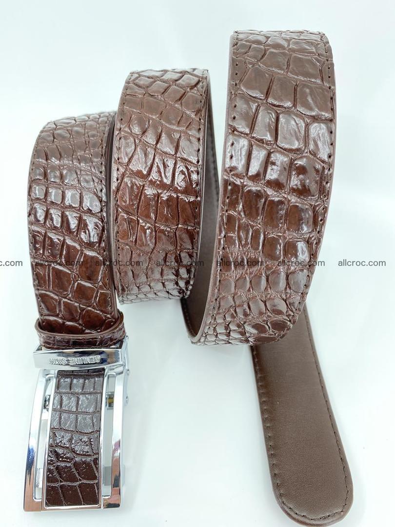 Crocodile leather belt 729 Foto 4