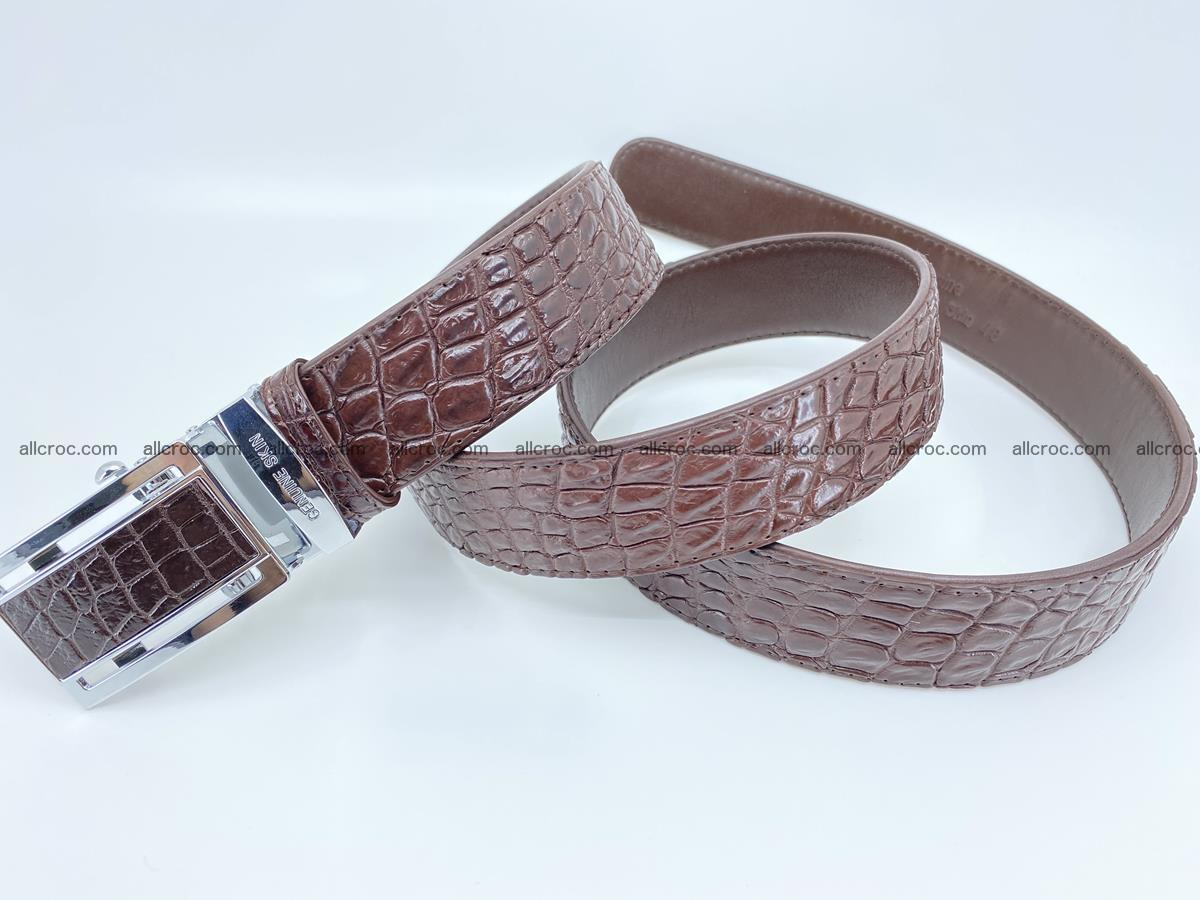 Crocodile leather belt 729 Foto 5