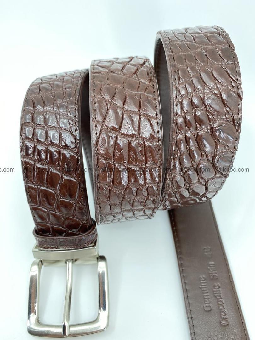 Crocodile leather belt 731 Foto 5