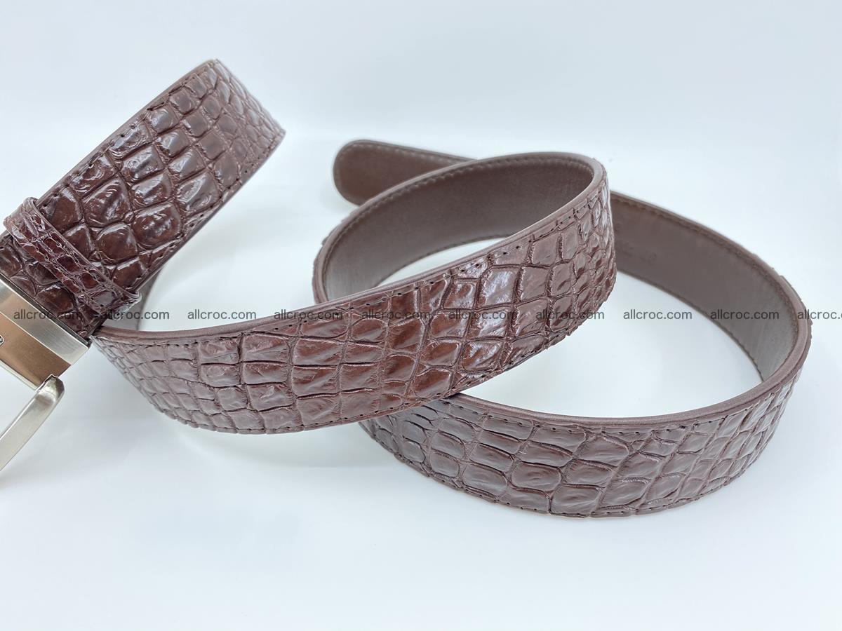Crocodile leather belt 731 Foto 7