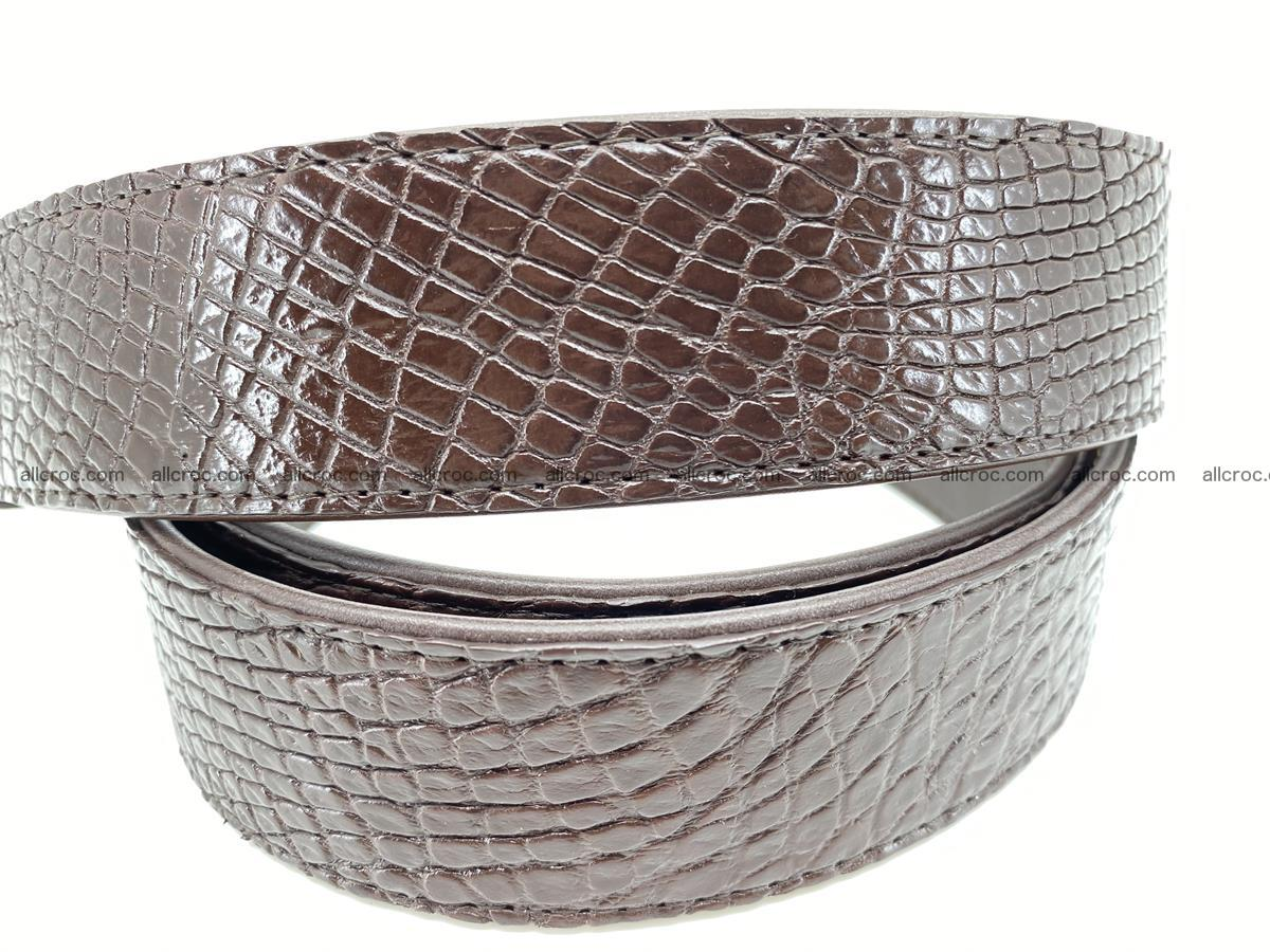 Crocodile leather belt 735 Foto 5