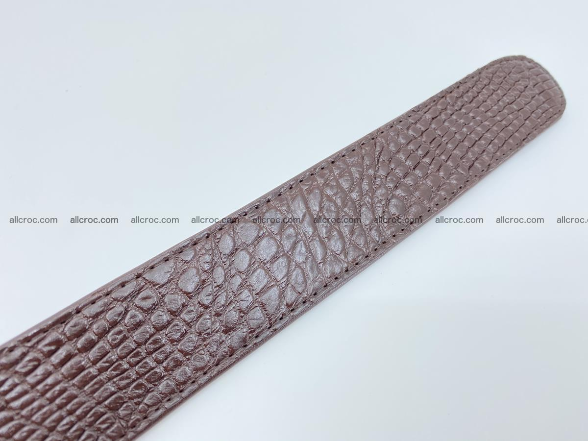Crocodile leather belt 741 Foto 8